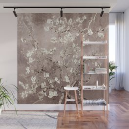 Van Gogh Almond Blossoms Beige Taupe Wall Mural