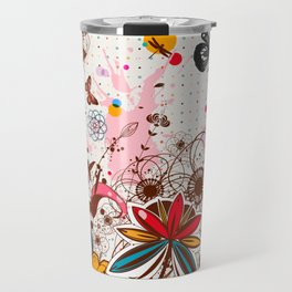 Buttlerflies and Flowers Travel Mug