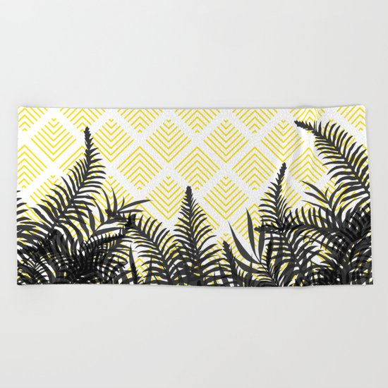Tropical Ferns on Pattern #society6 #decor #buyart Beach Towel