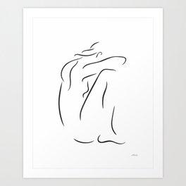 Minimalist nude sketch. Art Print