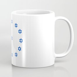 Star of David. A Clock.-Magen David,israel,judaism,bible, מָגֵן דָּוִד, jerusalem Coffee Mug
