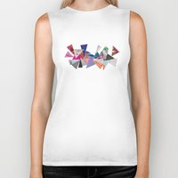 triangles Biker Tanks featuring Triangles by Lydia Coventry