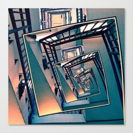 Infinite Spinning Stairs Canvas Print