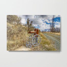 They Left Grandpa To The Elements Metal Print
