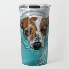Jack Russell Terrier Swimming Travel Mug
