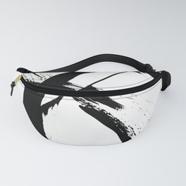 Brushstroke [7]: a minimal, abstract piece in black and white Fanny Pack