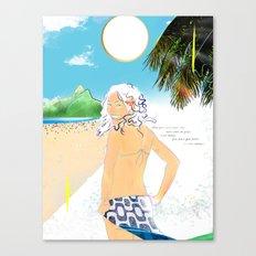 garota de ipanema Canvas Print