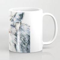 coyote Mugs featuring Coyote I by Susana Miranda ilustración