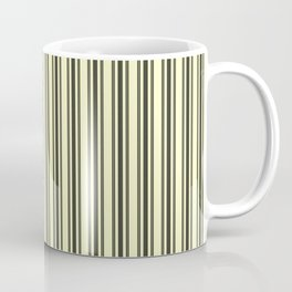 Large French Cream Mattress Ticking Black Double Stripes Coffee Mug