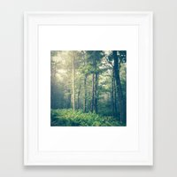 landscape Framed Art Prints featuring Inner Peace by Olivia Joy StClaire