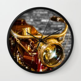 Old Motorcycle Wall Clock