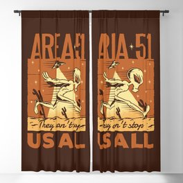 Area 51 Alien: They Can't Stop Us All Blackout Curtain