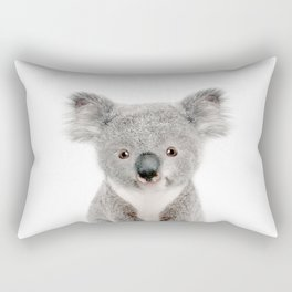 Baby Koala Portrait Rectangular Pillow
