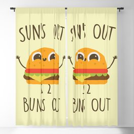 Sun's Out, Buns Out, Funny, Cute, Quote Blackout Curtain