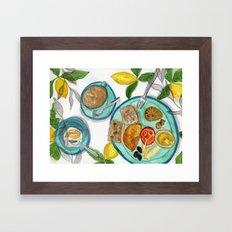 The summary breakfast Framed Art Print