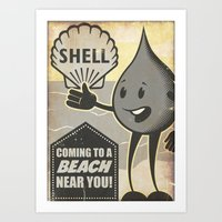 Oil Spills Art Print