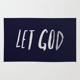 Let God x Navy Rug