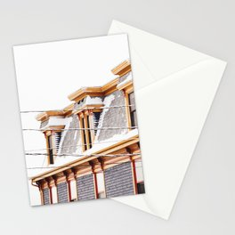 winter rooftop Stationery Cards