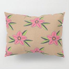 Old school tattoo flower pattern Pillow Sham