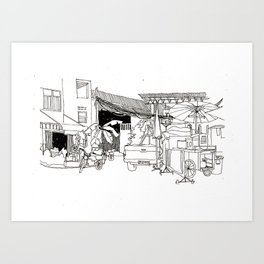 Thailand Bangkok China Town Art Print