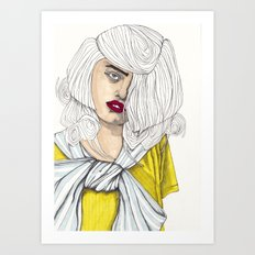 Fashion Illustration - Patterns and Prints - Part 4 Art Print