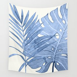 Blue Leaves I Wall Tapestry
