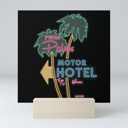 Twin Palms Retro Neon Sign Mini Art Print