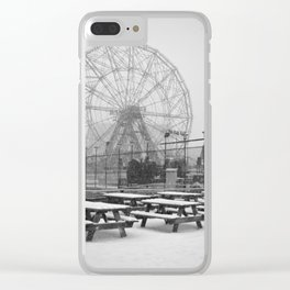 Coney Island Winter - Carousel Clear iPhone Case