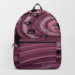 Hands of Time Light-Pink Rippling Water Art Motif Backpack