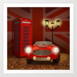 British RED Art Print