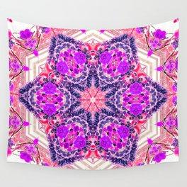 bouquet-lined bridges mandala Wall Tapestry