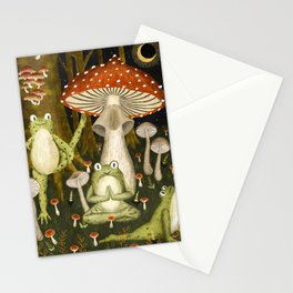 mushroom forest yoga Stationery Cards