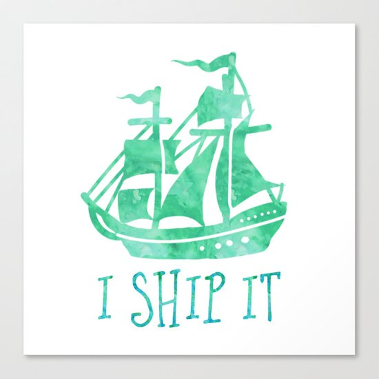 I Ship It - Watercolour Canvas Print