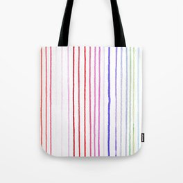 RAINBOW WATERCOLOR LINES Tote Bag
