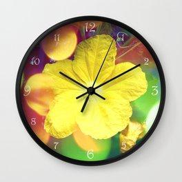 Secret Garden | Cucumber flower Wall Clock