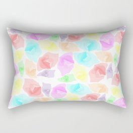 Colorful Aqua Rectangular Pillow