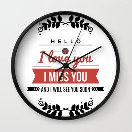 I love you lettering design Wall Clock