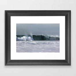 Fast as a Wave Framed Art Print