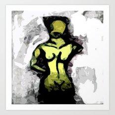 Naked Black and White Art Print