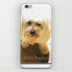 Keep Smilin' Poster iPhone & iPod Skin