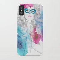 glasses iPhone & iPod Cases featuring Glasses by Camis Gray
