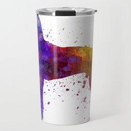 Great Dane 01 in watercolor Travel Mug