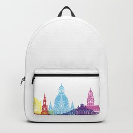 Dresden skyline pop Backpack