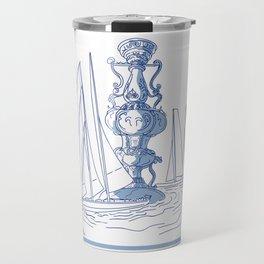 Yacht Club Racing Trophy Cup Drawing Travel Mug