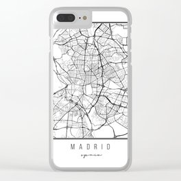 Madrid Spain Street Map Clear iPhone Case