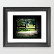 Framing a cattle Shed Framed Art Print