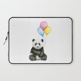 Panda Baby with Balloons Laptop Sleeve