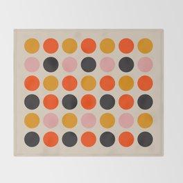 Retro Bauhaus Dots | 70s European Pattern Throw Blanket