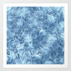 Frozen Leaves 8 Art Print