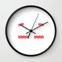Surfing is the Bacon of Sports Funny Wall Clock